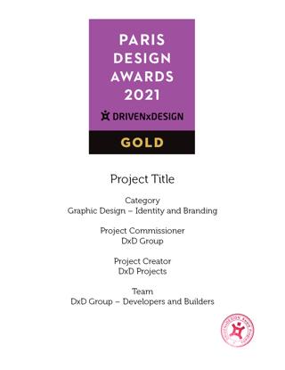 Picture of Stamped Certificate 2021 Paris Design Awards - postage Australia