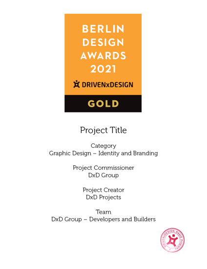 Picture of Stamped Certificate 2021 Berlin Design Awards - postage global